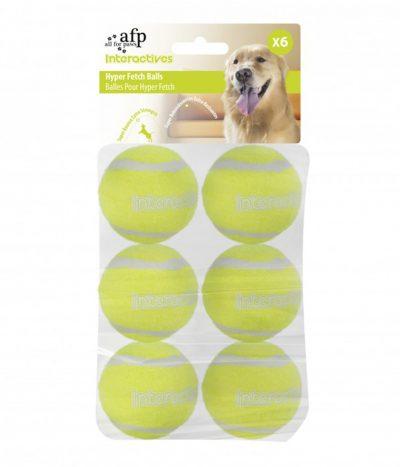 All For Paws Interactive Hyper Fetch Tennis Balls (6Pk)